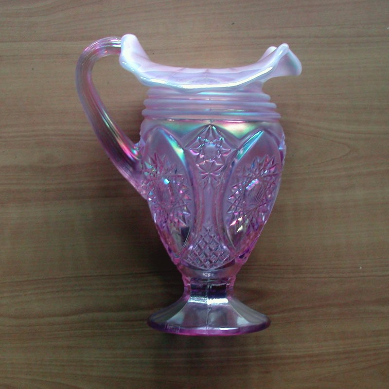 Bohemian Glass Egermann Etched Ruby Cut To Clear